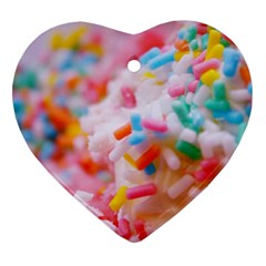 Birthday Cake Heart Ornament (Two Sides)