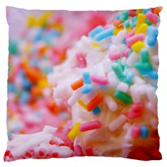 Birthday Cake Large Cushion Case (One Side)