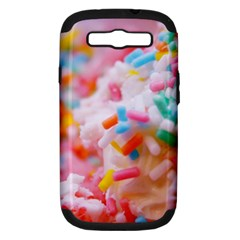 Birthday Cake Samsung Galaxy S III Hardshell Case (PC+Silicone)