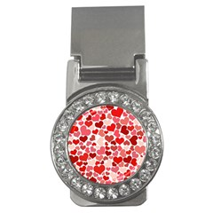Red Hearts Money Clips (CZ)