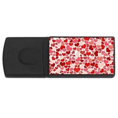 Red Hearts USB Flash Drive Rectangular (1 GB)