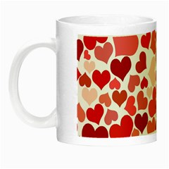 Red Hearts Night Luminous Mugs
