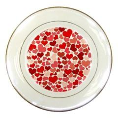Red Hearts Porcelain Plates