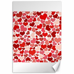 Red Hearts Canvas 12  x 18
