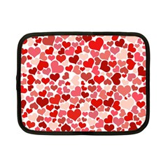 Red Hearts Netbook Case (Small)