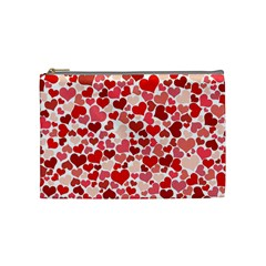 Red Hearts Cosmetic Bag (Medium)