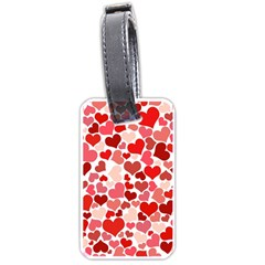Red Hearts Luggage Tags (One Side)