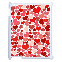 Red Hearts Apple iPad 2 Case (White)