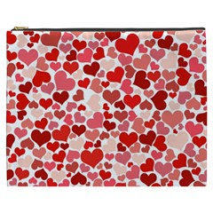 Red Hearts Cosmetic Bag (XXXL)
