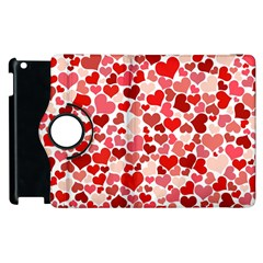 Red Hearts Apple iPad 3/4 Flip 360 Case