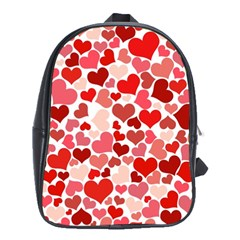 Red Hearts School Bags (XL)