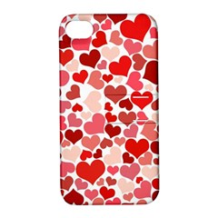 Red Hearts Apple iPhone 4/4S Hardshell Case with Stand
