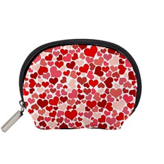 Red Hearts Accessory Pouches (Small)