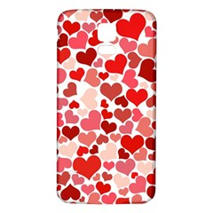 Red Hearts Samsung Galaxy S5 Back Case (White)