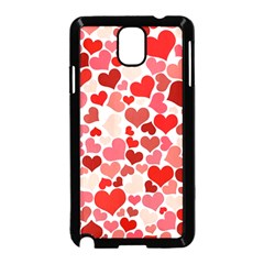 Red Hearts Samsung Galaxy Note 3 Neo Hardshell Case (Black)
