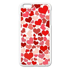 Red Hearts Apple iPhone 6 Plus/6S Plus Enamel White Case