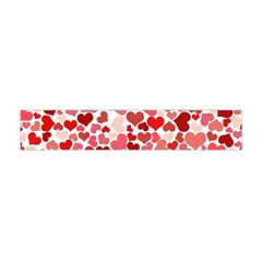 Red Hearts Flano Scarf (mini)
