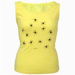 Spiders Women s Yellow Tank Top