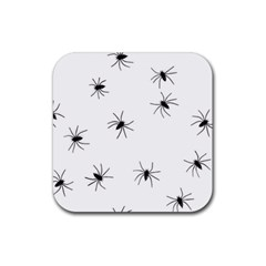 Spiders Rubber Square Coaster (4 pack)