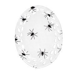 Spiders Oval Filigree Ornament (Two Sides)