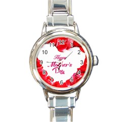 Happy Mothers Day Round Italian Charm Watch