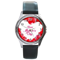 Happy Mothers Day Round Metal Watch