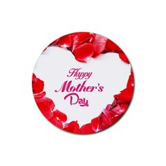 Happy Mothers Day Rubber Coaster (Round)
