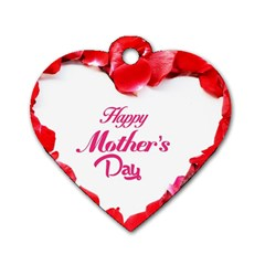 Happy Mothers Day Dog Tag Heart (Two Sides)
