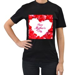 Happy Mothers Day Women s T-Shirt (Black)