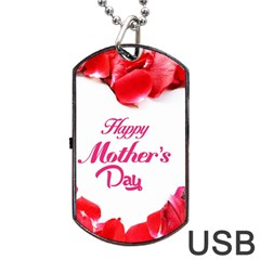 Happy Mothers Day Dog Tag USB Flash (One Side)