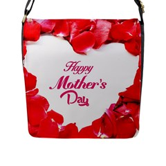 Happy Mothers Day Flap Messenger Bag (L)