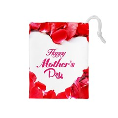Happy Mothers Day Drawstring Pouches (Medium)