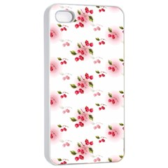 Vintage Cherry Apple iPhone 4/4s Seamless Case (White)