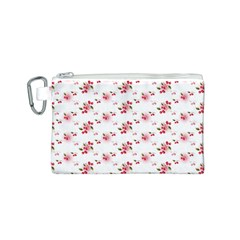Vintage Cherry Canvas Cosmetic Bag (S)