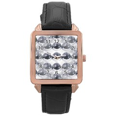 Disco Balls Rose Gold Leather Watch