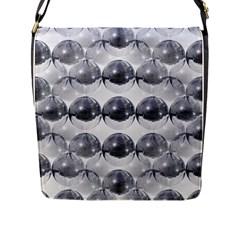Disco Balls Flap Messenger Bag (L)