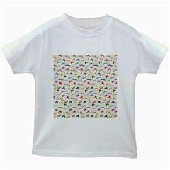 Mustaches Kids White T-Shirts