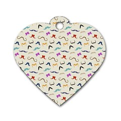 Mustaches Dog Tag Heart (One Side)