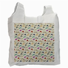 Mustaches Recycle Bag (One Side)