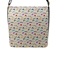 Mustaches Flap Messenger Bag (L)