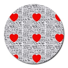 I Love You Round Mousepads