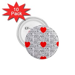 I Love You 1.75  Buttons (10 pack)