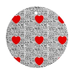 I Love You Round Ornament (Two Sides)