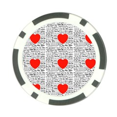 I Love You Poker Chip Card Guard (10 pack)