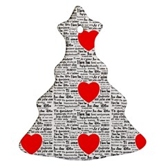 I Love You Christmas Tree Ornament (Two Sides)