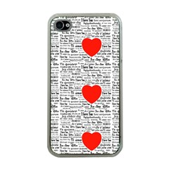 I Love You Apple iPhone 4 Case (Clear)