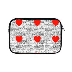 I Love You Apple iPad Mini Zipper Cases