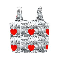 I Love You Full Print Recycle Bags (M)
