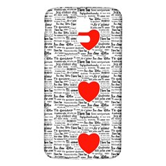 I Love You Samsung Galaxy S5 Back Case (White)