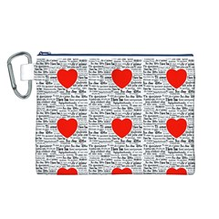 I Love You Canvas Cosmetic Bag (L)